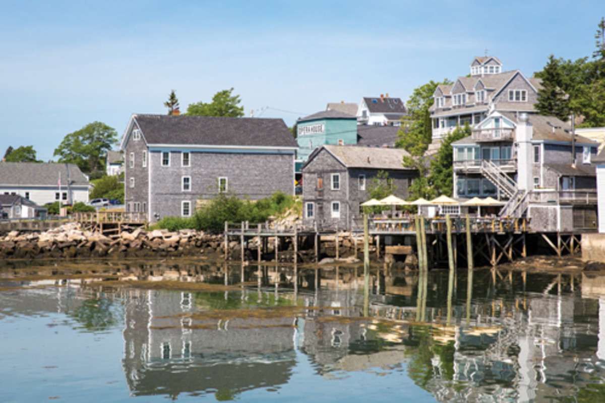 Reflections of Stonington, a village of fishermen and artists.