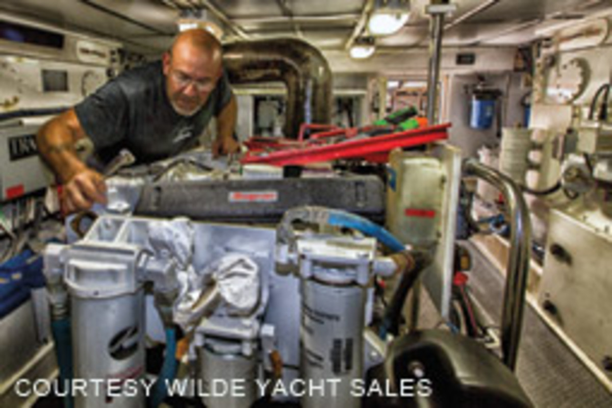 A prepurchase survey on a yacht with complex systems may call for hiring a mechanical or other experts in addition to a marine surveyor.