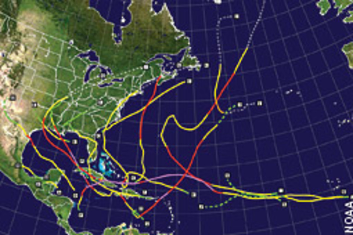 A total of 16 named storms formed last season, including eight hurricanes, five of which were major (Category 3 or higher).