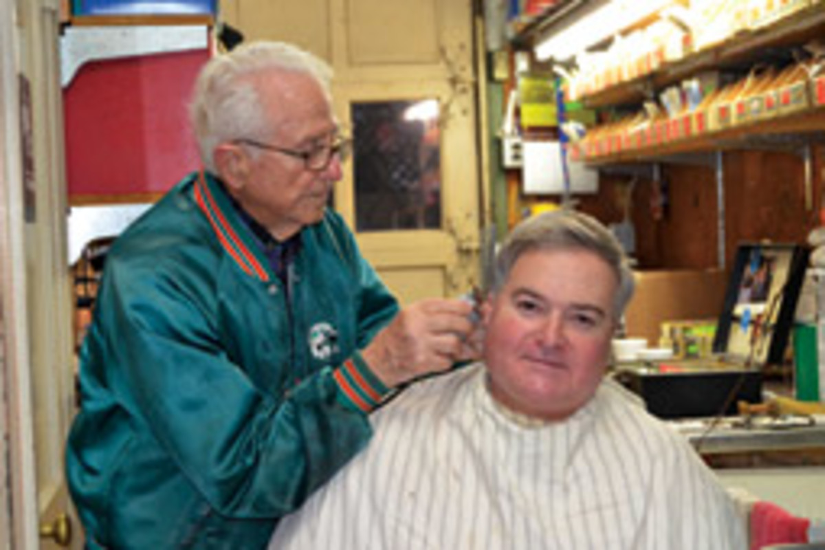 'Nooney' Lamantia still comes in to give Tony his monthly trim.