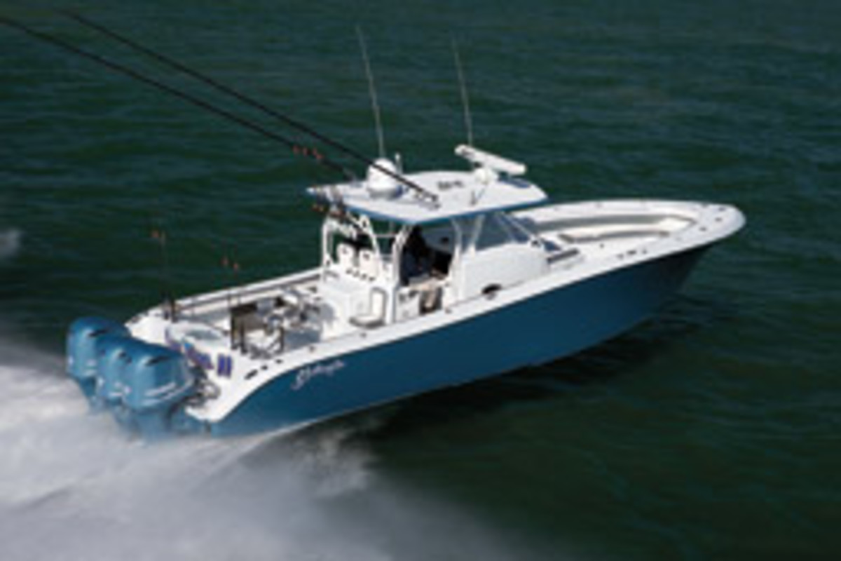 Yellowfin's fishing boats larger than 30 feet have two steps; the smaller boats have a single step.