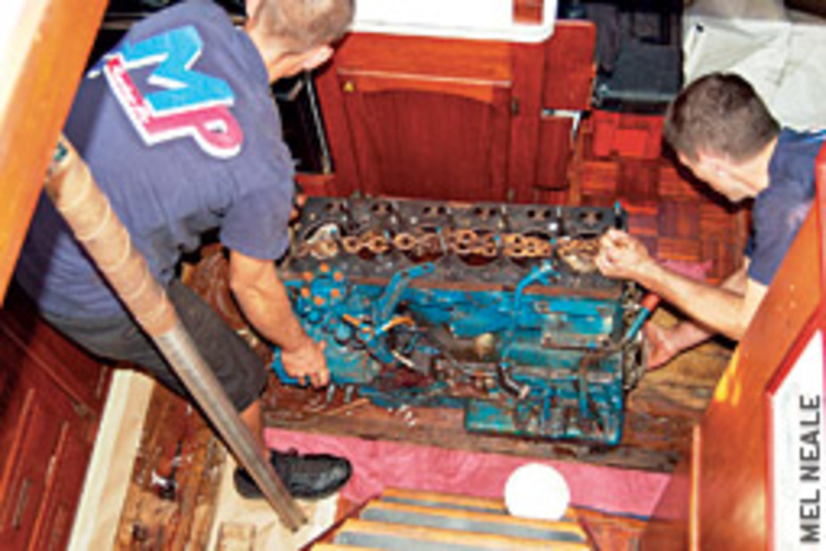 Some repairs are beyond the experetise of most boaters, such as replacing an engine.