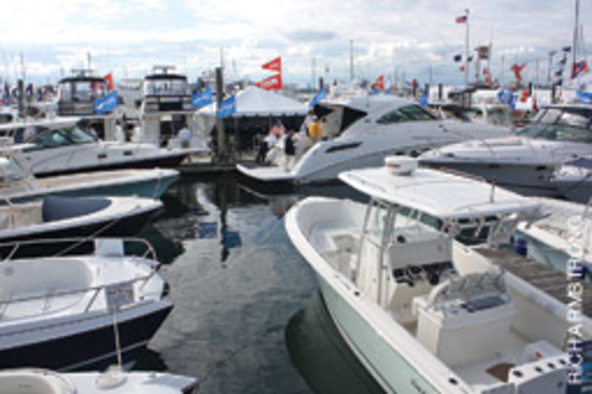 Organizers for this year's Newport International Boat Show reported a 25-percent increase in attandance.