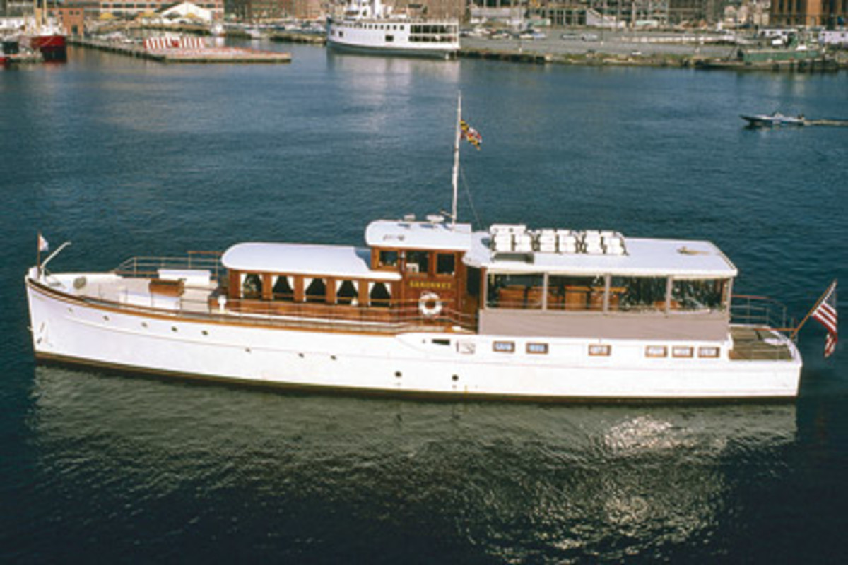 Sakonnet, a 75-footer built by Chance Marine Construction in Annapolis, was Wilson's dream boat. In her time with Wilson, she served as recording studio, treasure-hunting vessel and gourmet dinner cruise vessel.