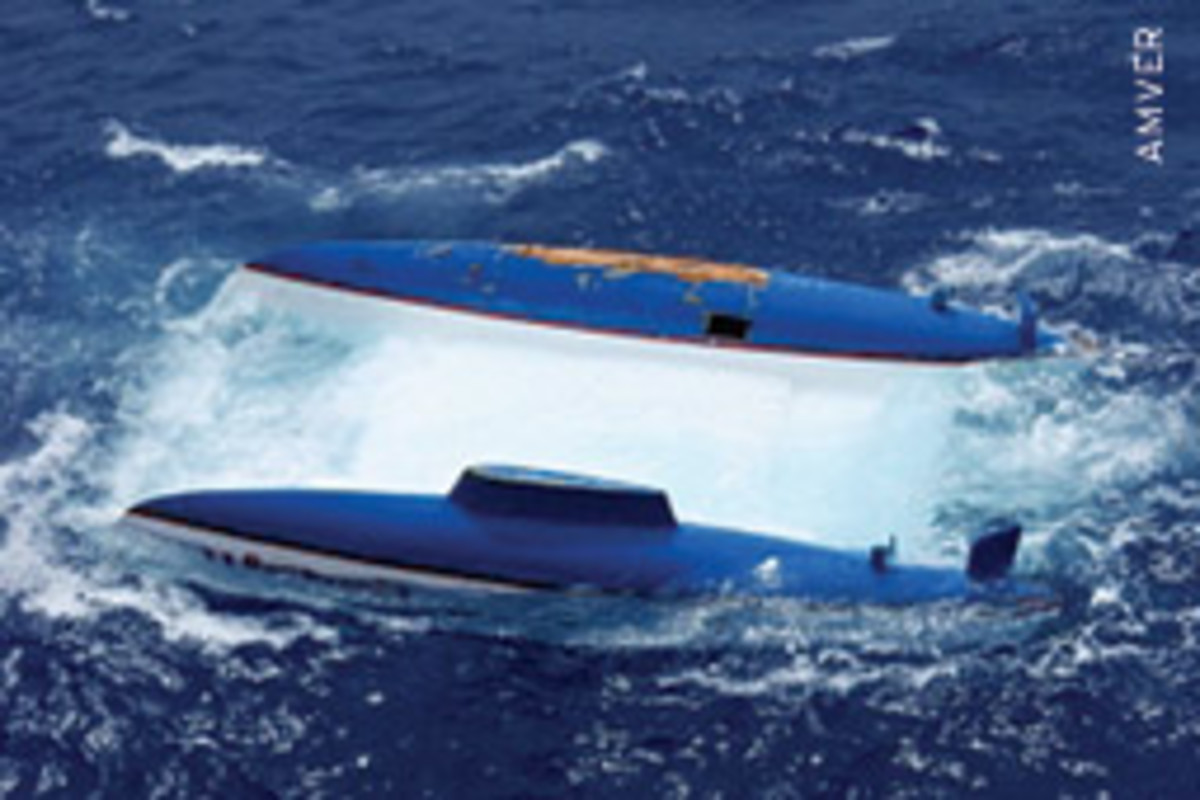 The boat was some 180 nautical miles south of Madagascar when the M/V Auto Banner found it Jan. 22.