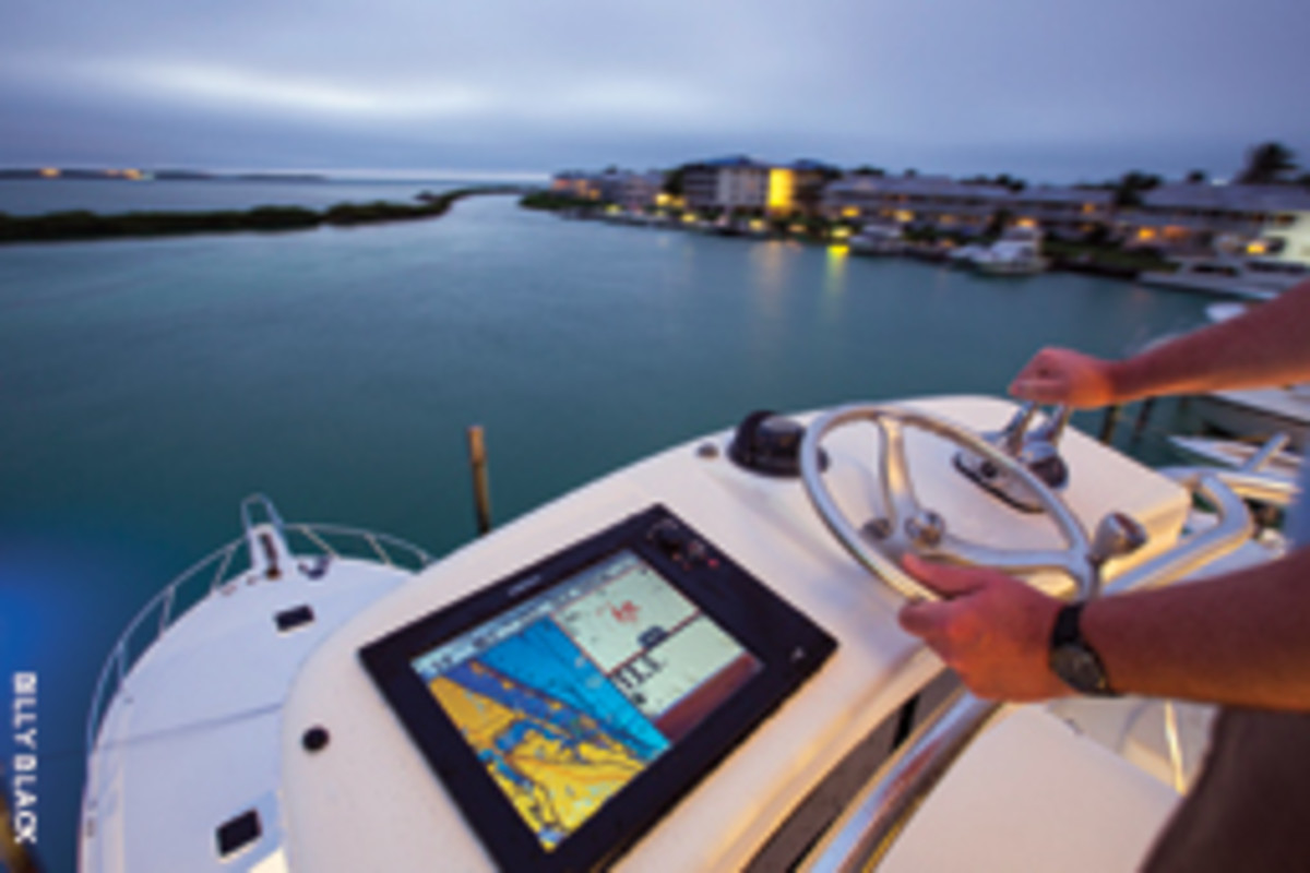 The arsenal of technologies at anglers' fingertips includes networked multifunction displays, such as those from Simrad.