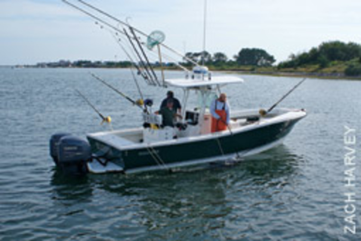 A Pair of 200-hp Yamaha 4-strokes is a good choice for repowering a Regulator 26.