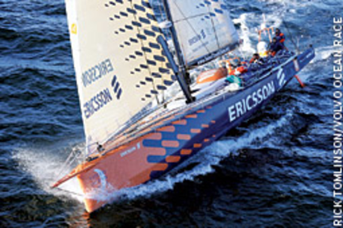 Ericsson 4 recorded 596.6 nautical miles in 24 hours.