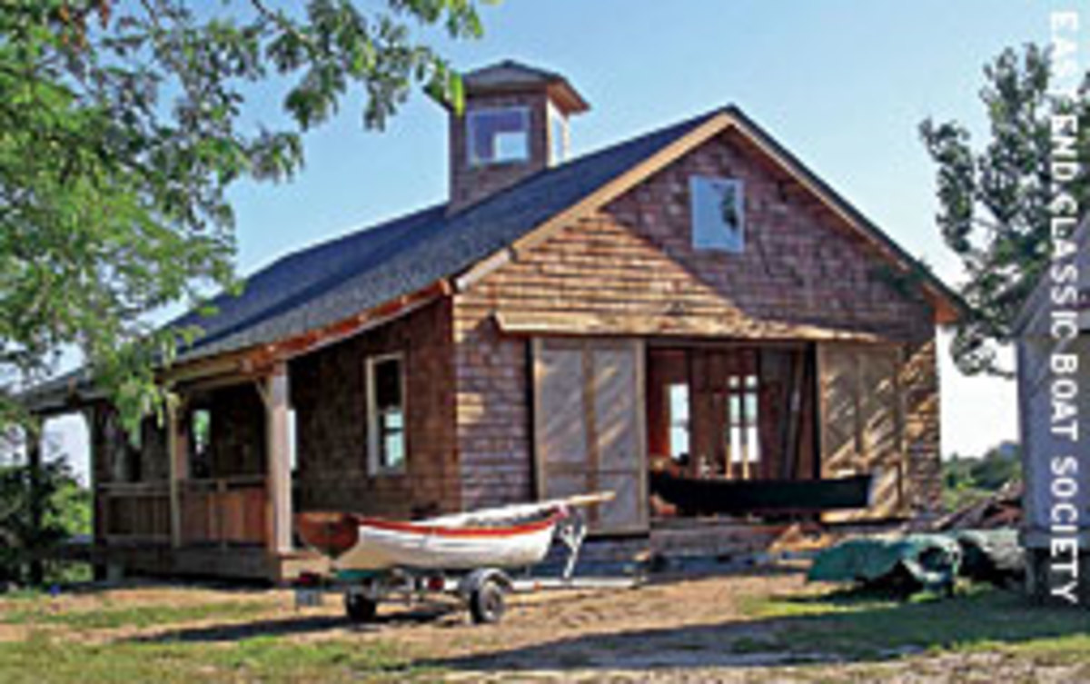 When the East End Classic Boat Society of East Hampton, N.Y., outgrew its former home, volunteers helped build this 2,600-square-foot shop.