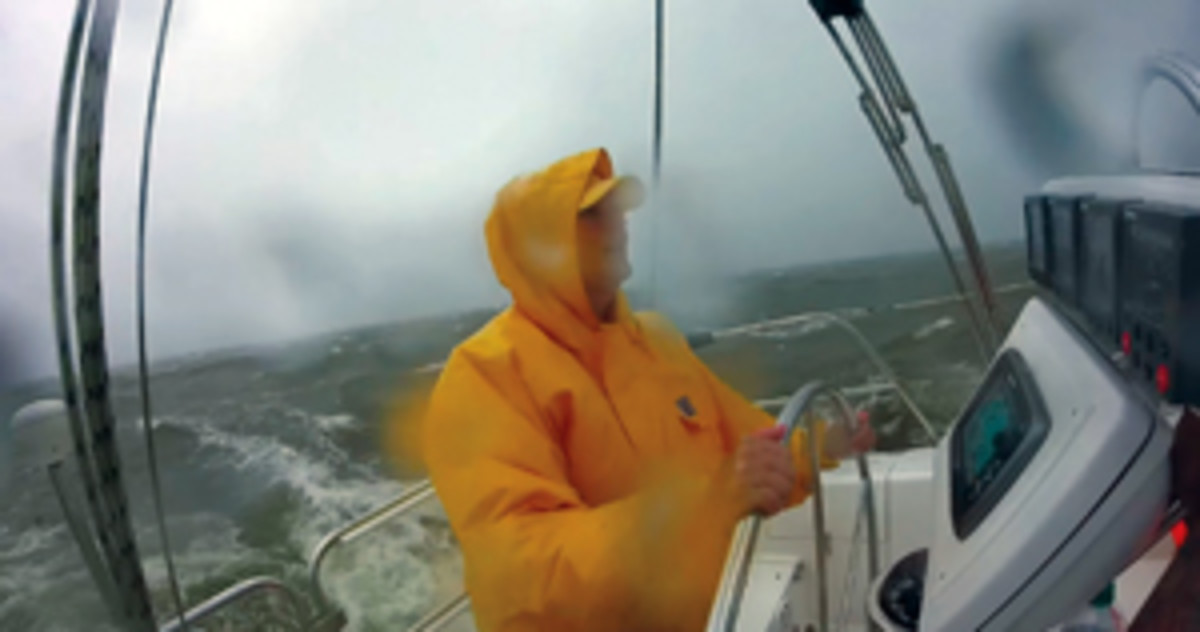 Libby Hoffman and crew made it through the storm aboard the Catalina 36 MKII St. Somewhere.