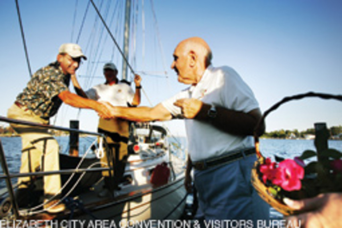 For 27 years, Elizabeth City's Rose Buddies have greeted boaters when they arrive at Mariners' Wharf.