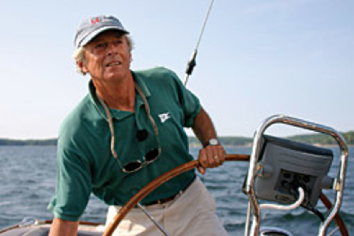Tom Morris, sailing in the summer of 2006 aboard Hull No. 1 of the M42, wanted to build a boat that was uniquely his.
