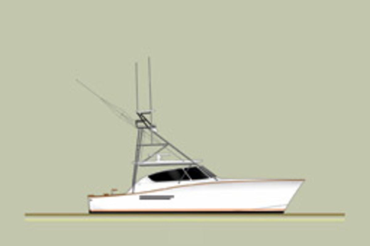 The Post 42 is one of six boats for which Patnovic has the molds.