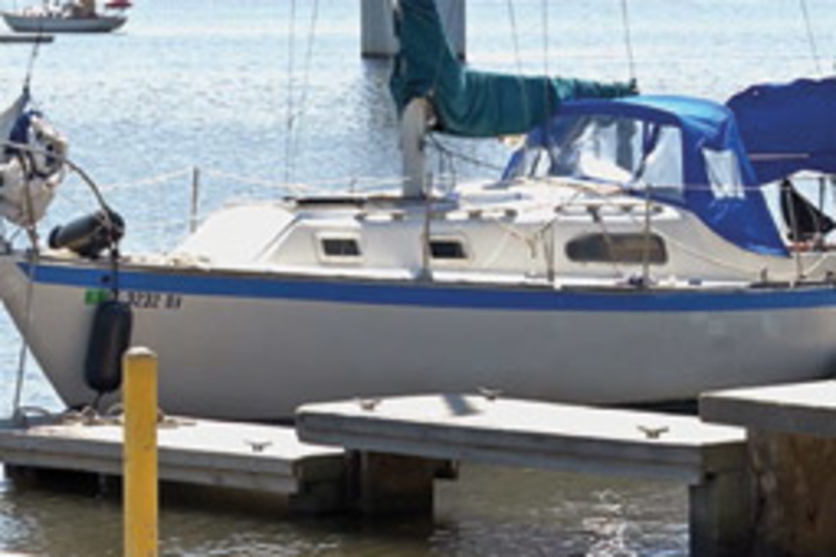Police said this 28-foot sailboat was being used as a lab to make crystal methamphetamine on a Daytona Beach, Fla., mooring.