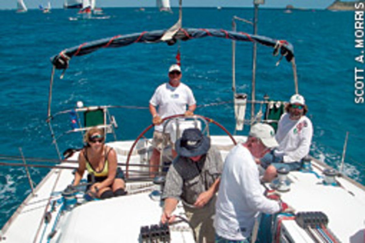 The crew of the Beneteau 47.7, Crescendo, though strangers before the race, proved to be worthy competitors.