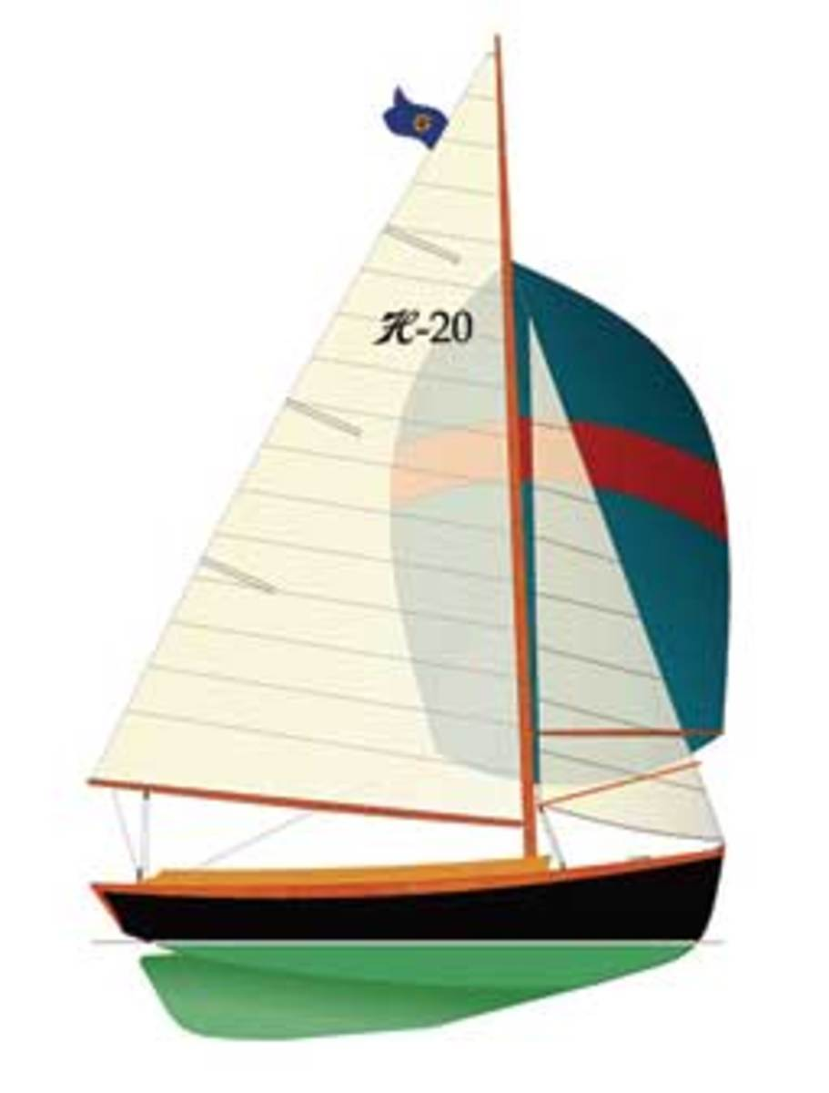 In addition to the standard Marconi, the Herreshoff 20 will be available with an optional gaff rig.