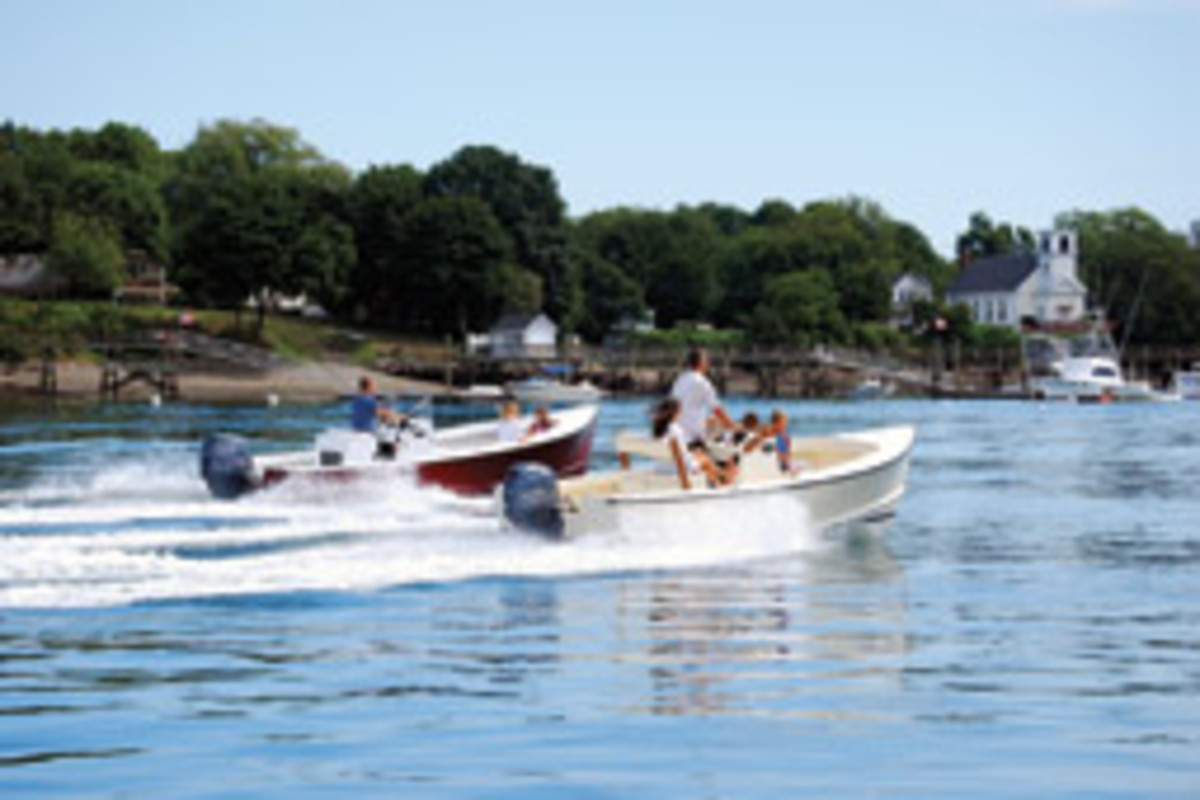 The Seaway fleet includes the Sportsman 21 (left) and Sportsman 18.