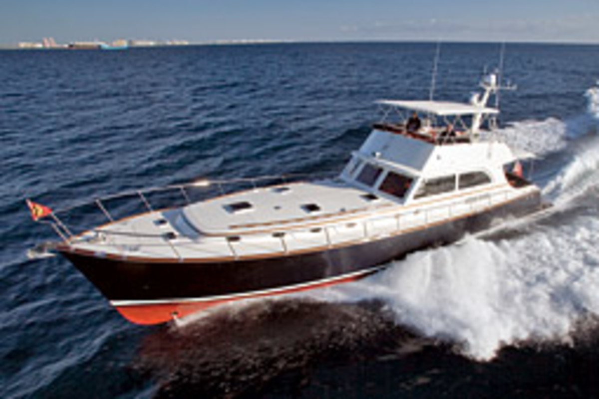 Vicem Yachts (pronounced 'Vee-cham') builds classic style motor yachts ranging from 52 to 100 feet.