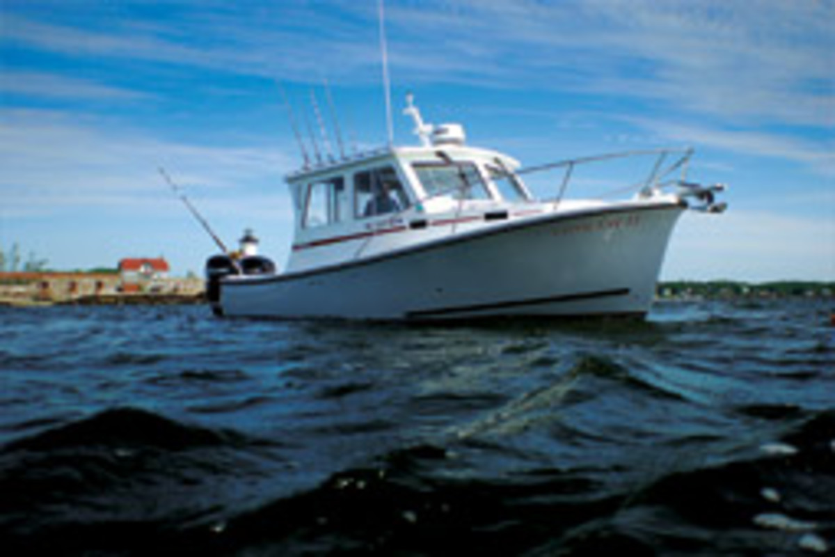 The latest iteration of the Eastern 27 is the Tournament, which is set up for fishing and family cruising.