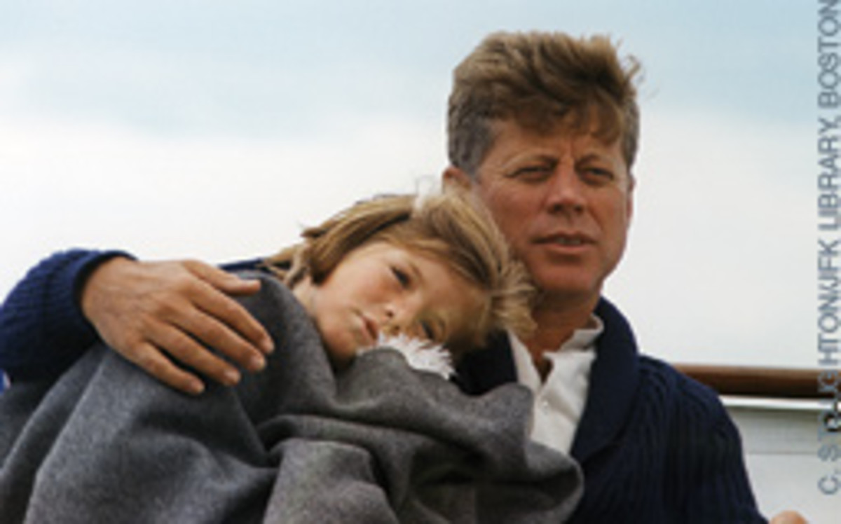 The iconic shot of JFK and Caroline.