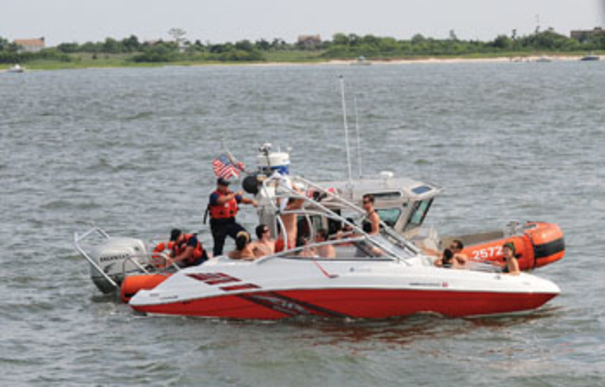 Overloading a boat is unsafe, and it also can bring the Coast Guard for a boarding.
