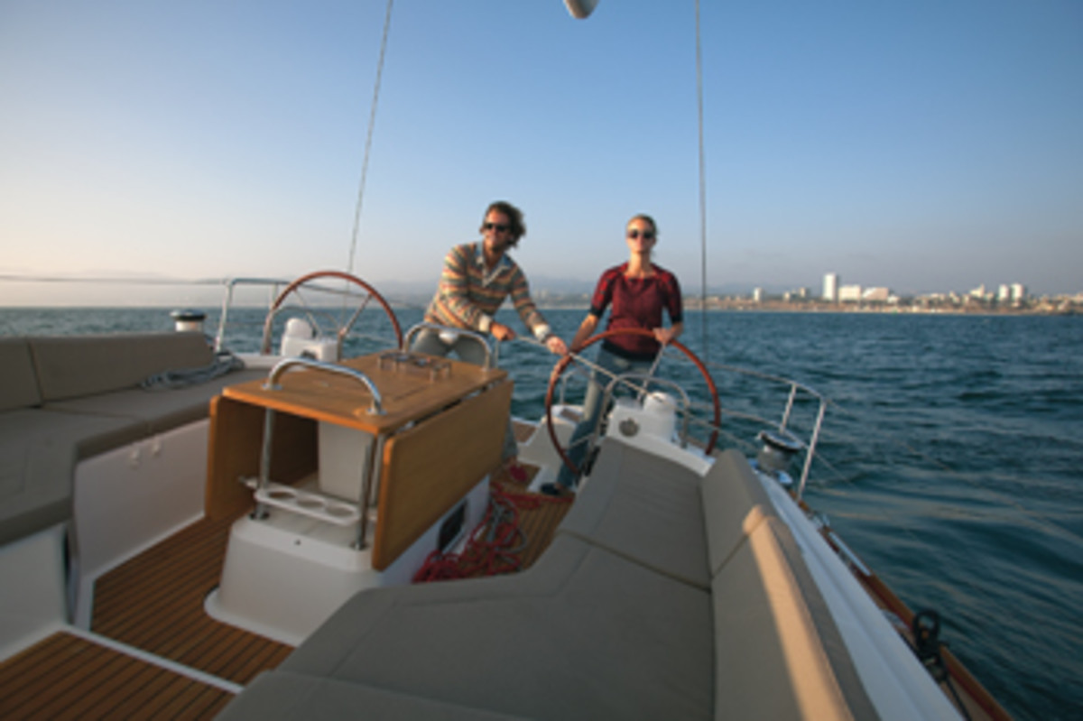 Blake Mycoskie and wife Heather have done a lot of sailing together.