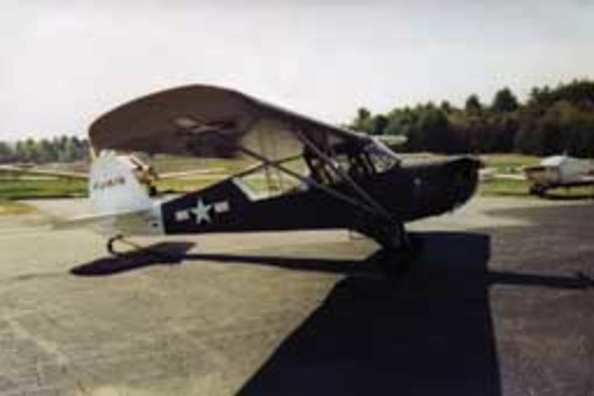 Adelaide owned a 1942 Aeronca L3B.
