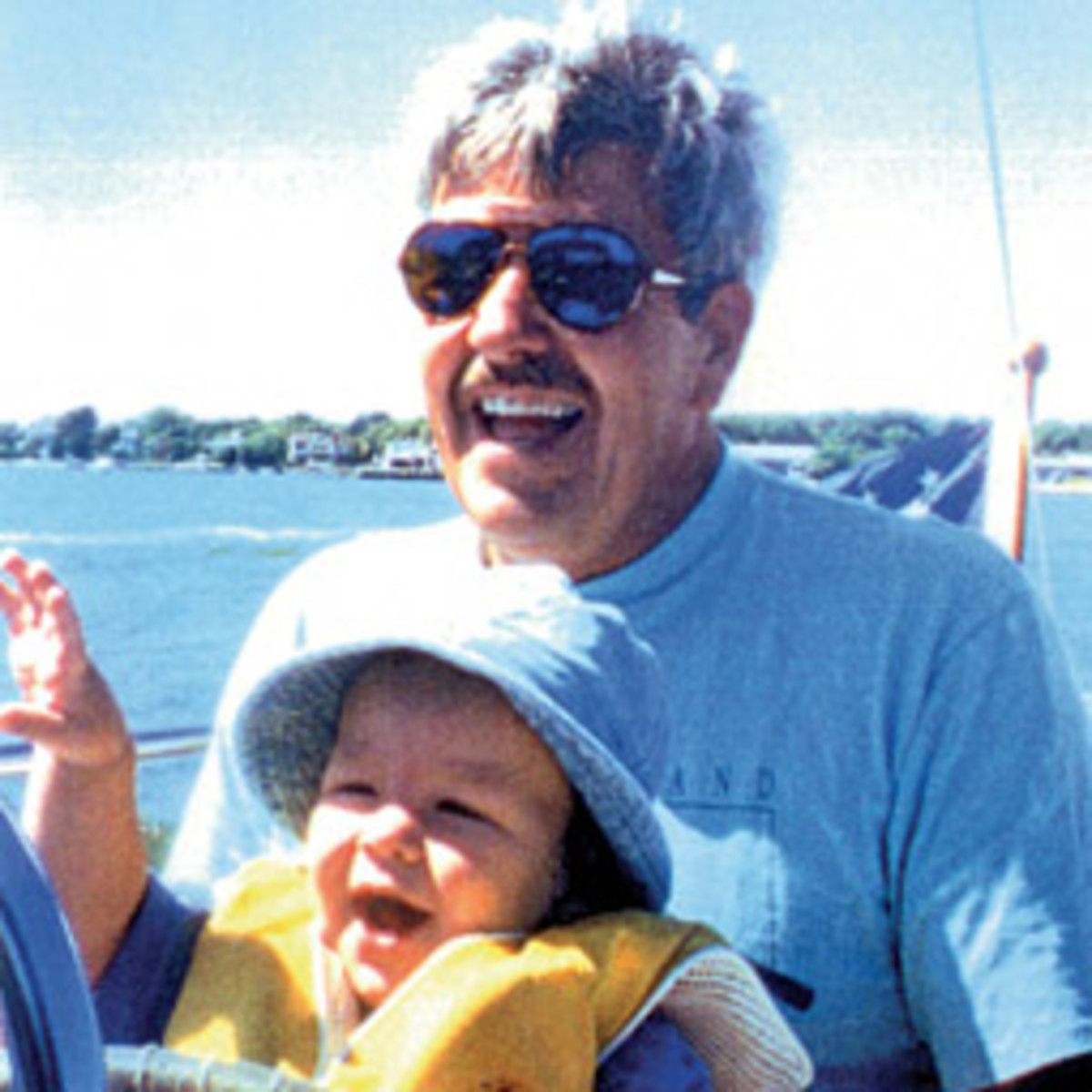 Mike O'Shea with his grandson, Keegan, in 1996.