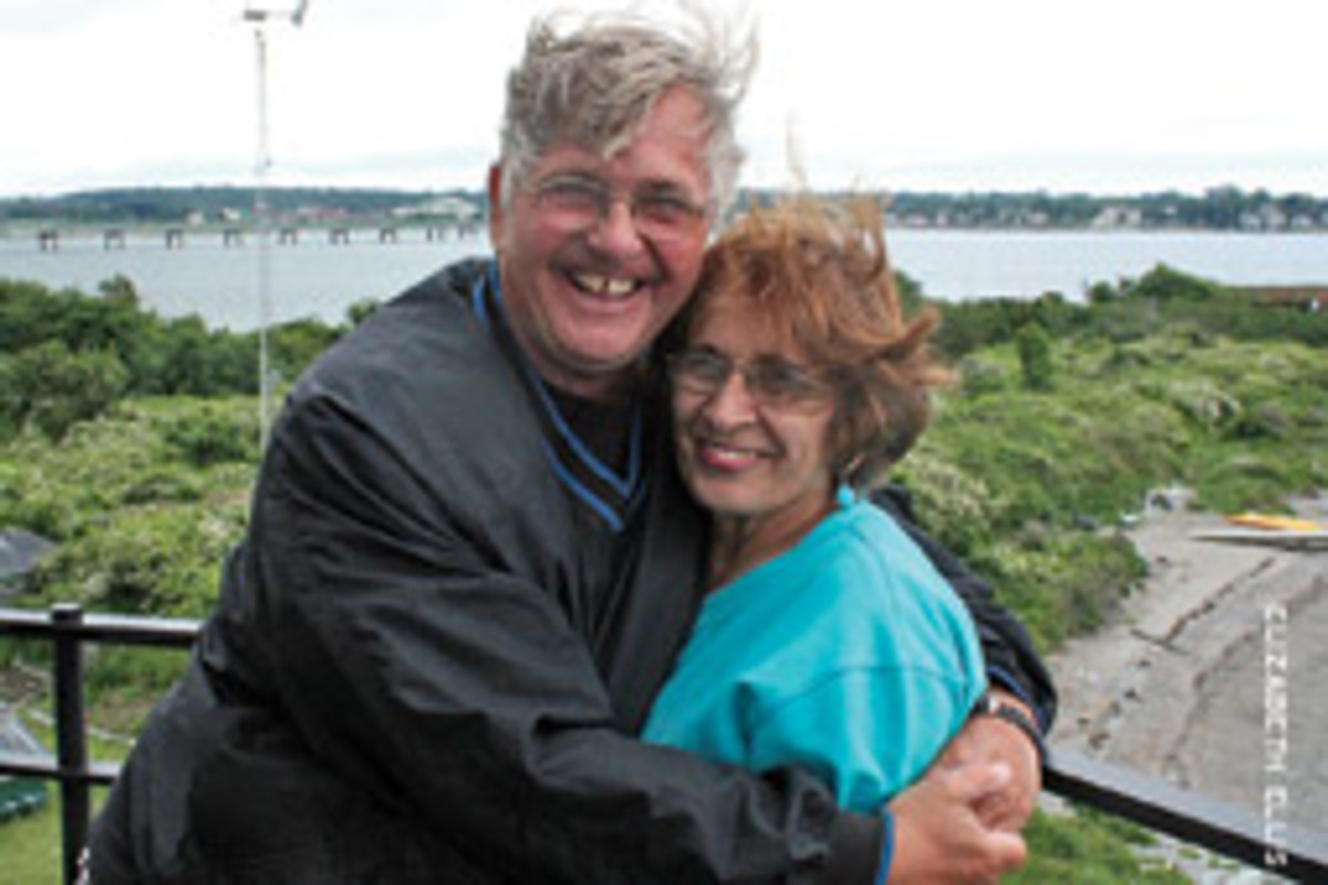 Don and Carol Maleto found Rose Island perfect for a 'light adventure.'
