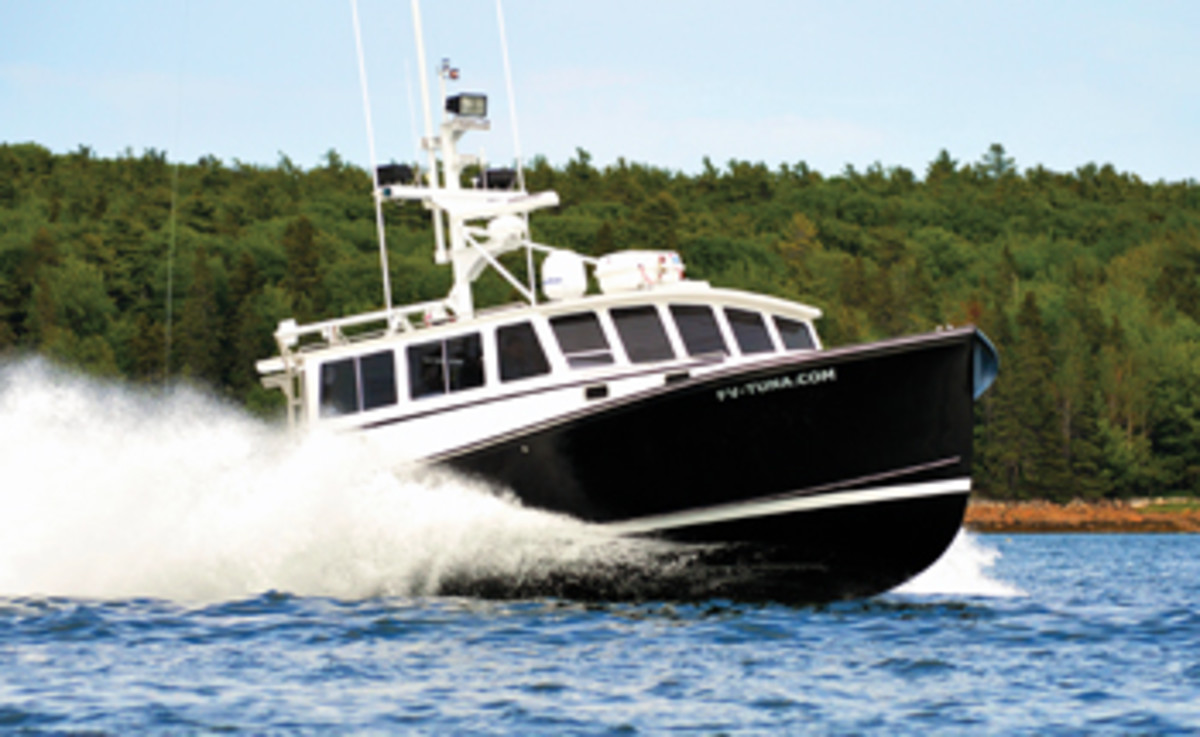 Tuna.com is a Calvin Beal 44 with a 17-foot, 6-inch beam.