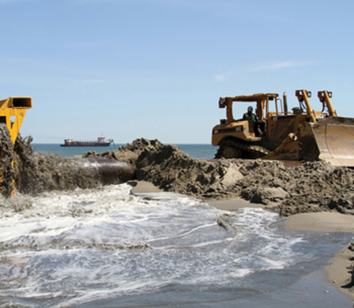 Some believe using offshore sand to renourish beaches is akin to robbing Peter to pay Paul.