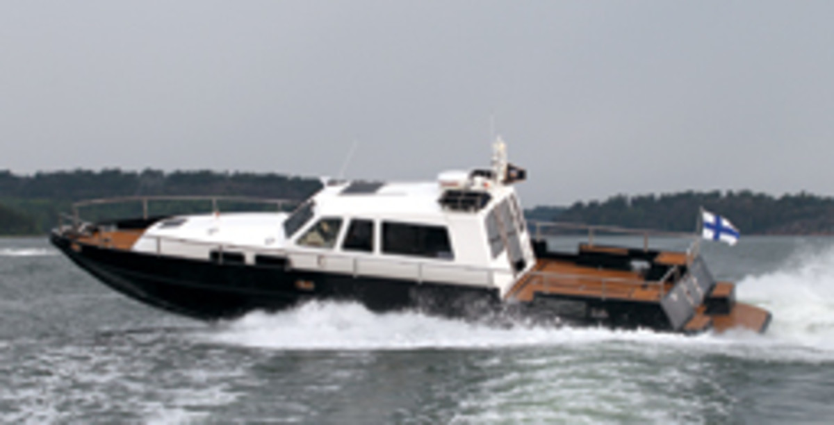 Masmar 47: pricey but powerful, with a full suite of electronics at the helm station.