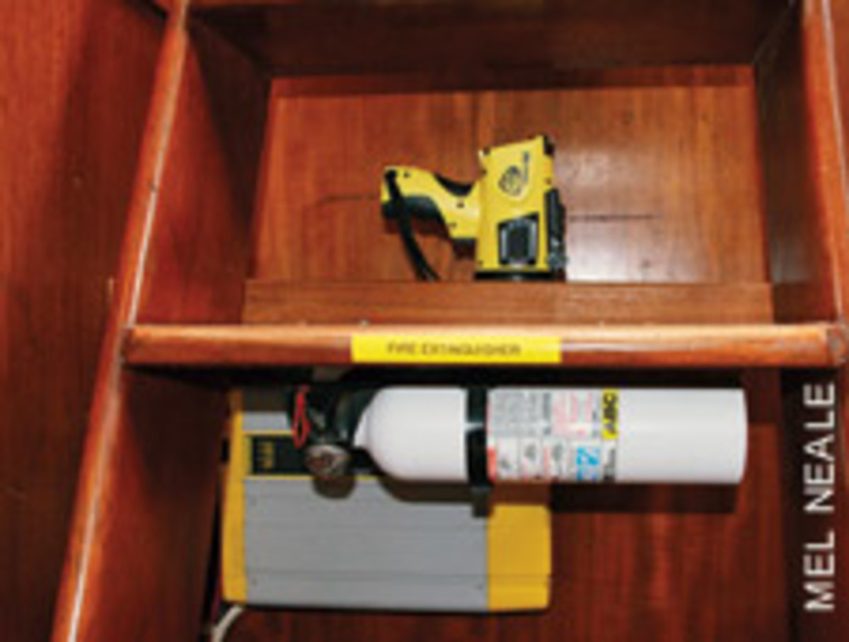 Placing extinguishers in easy-to-access spots can help stop a small blaze from becoming a big one.