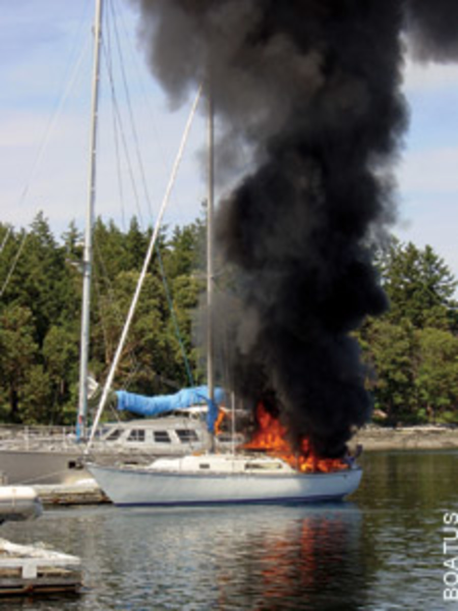 Fire on board! Here's what to do - Soundings Online