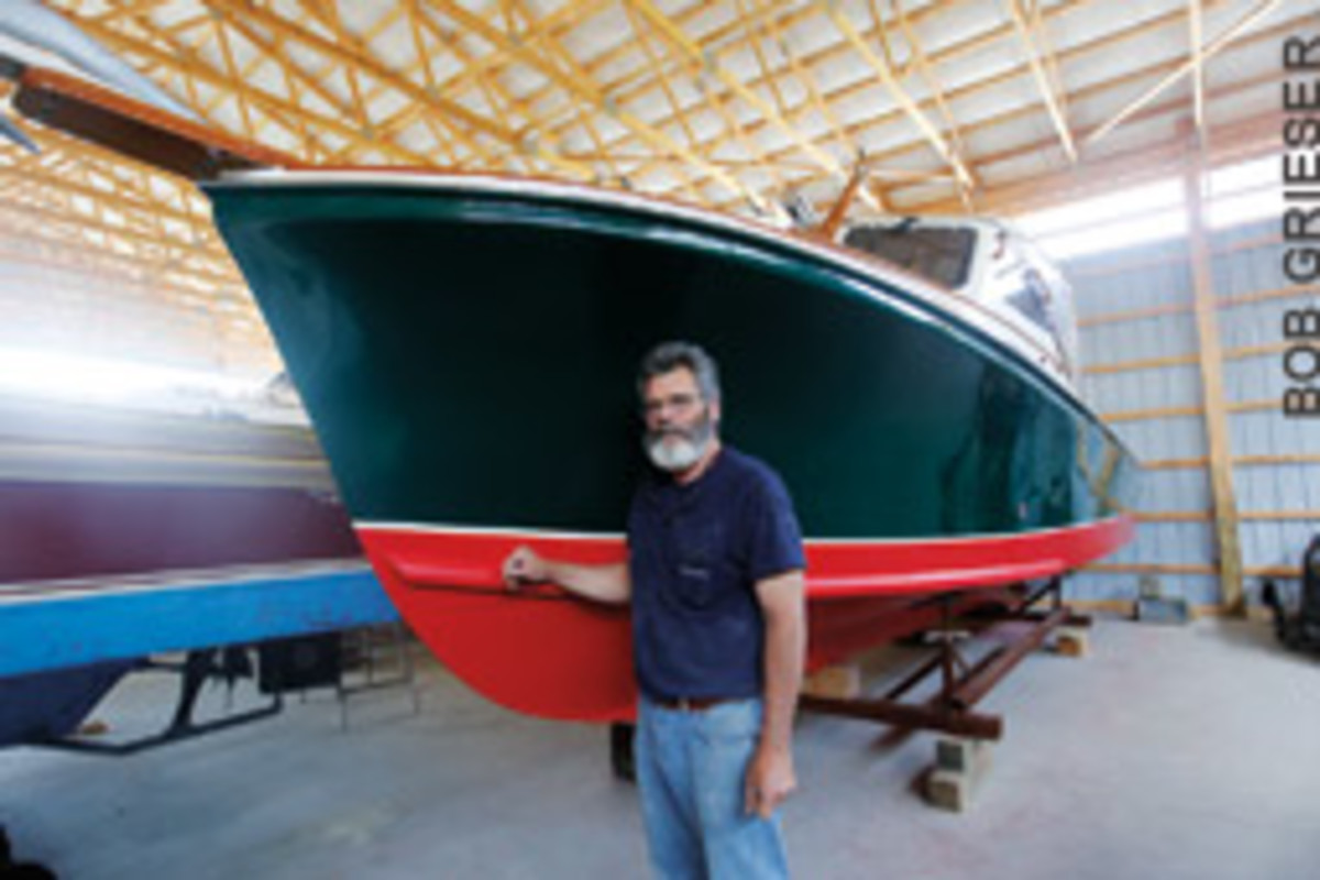 Pete Mathews, of Mathews Bros., produces a range of boats and also offers slips, transport, repair and storage.