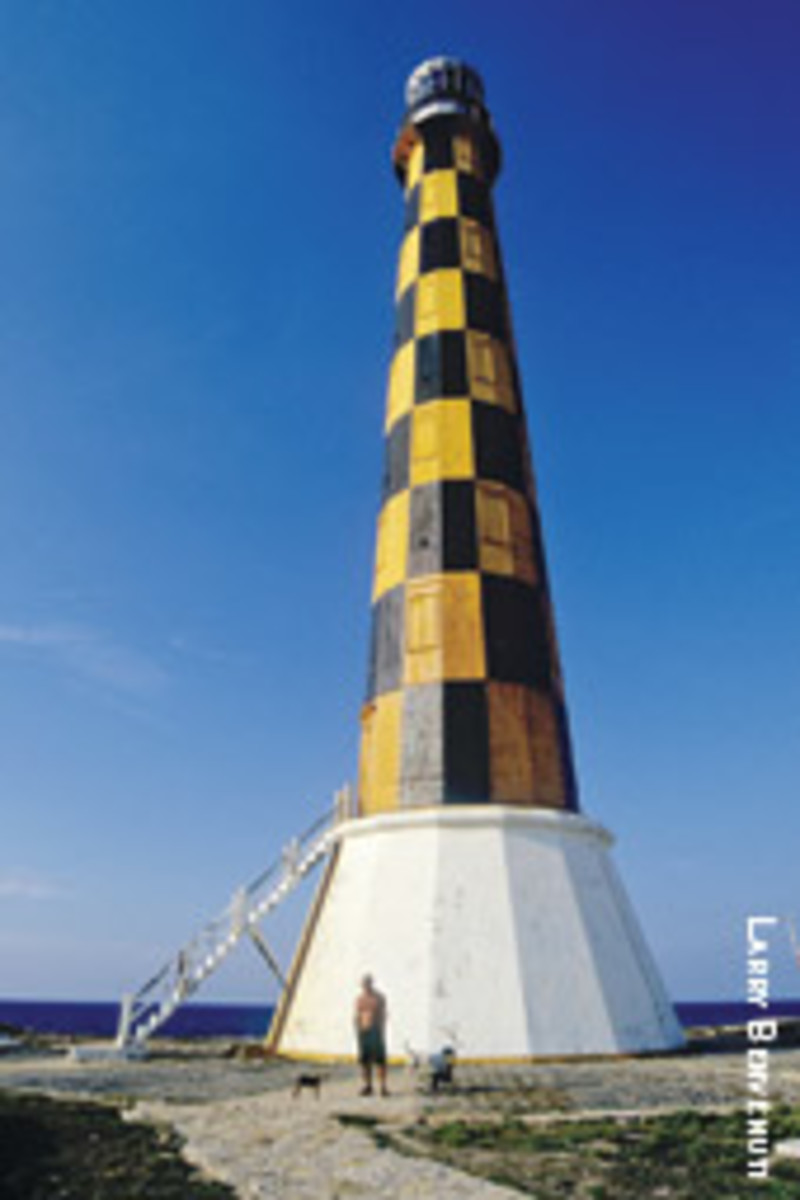 The beacon Faro Cayo Paredon Grande, just east of Cayo Coco on the north central coast.