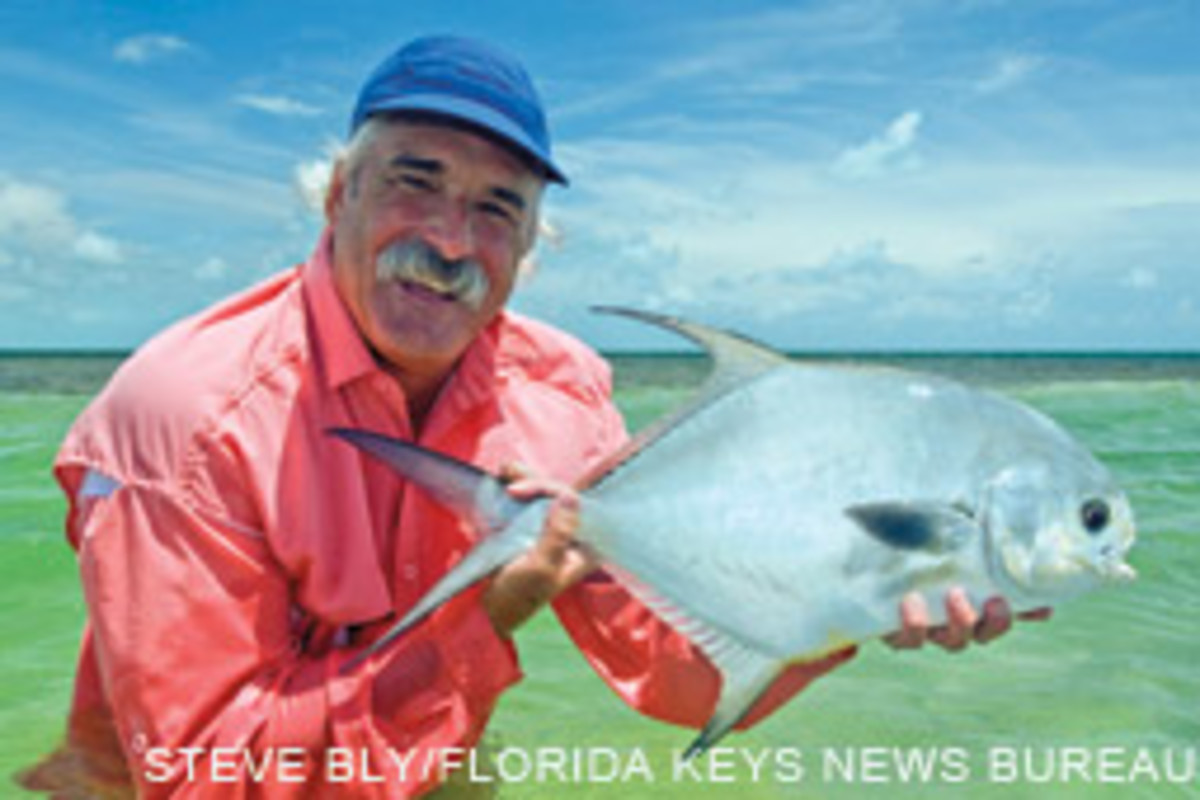 Permit caught on light tackle at Sugarloaf Key