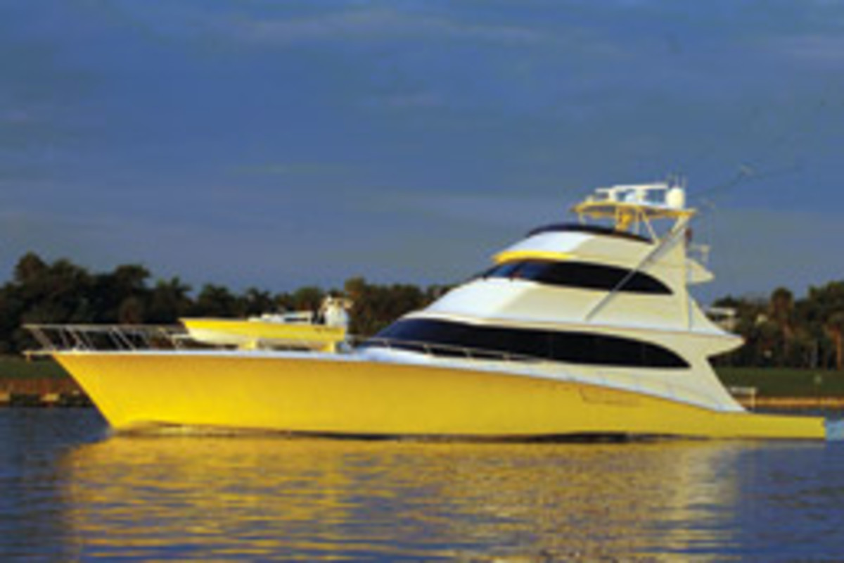The firm designs for sportfish builder John Smith Boats; this is a 105-footer for a repeat customer.