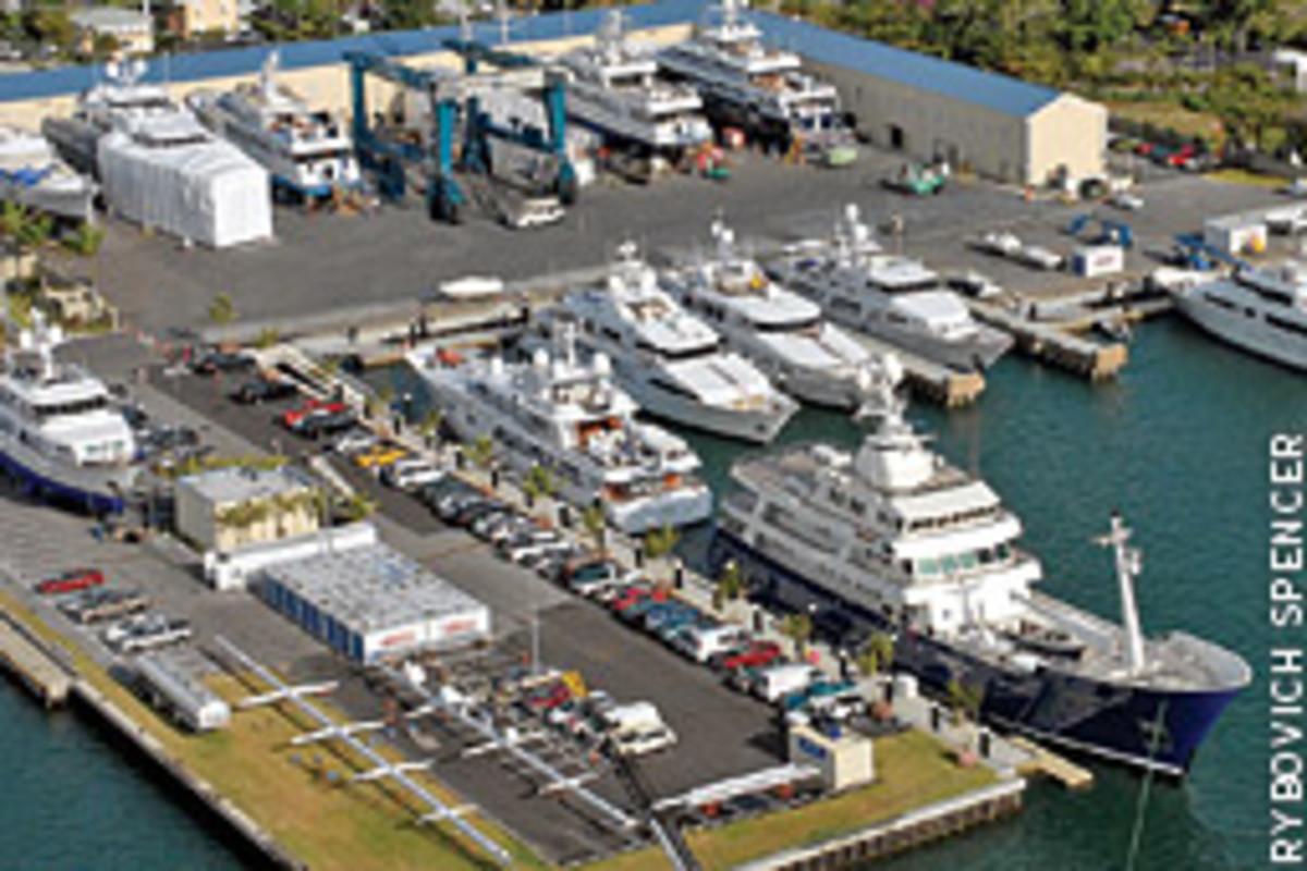Rybovich Spencer's boatyard/marina in West Palm Beach, Fla., underwent extensive renovation in 2005.
