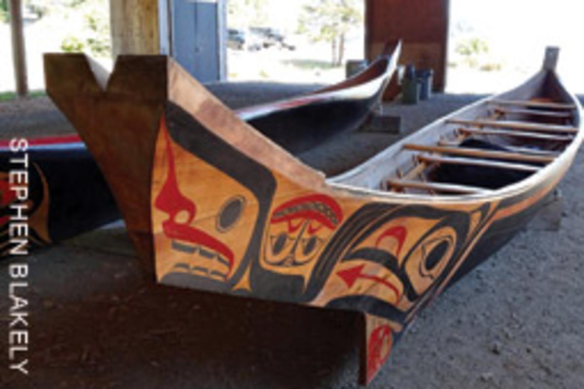 A modern Haida canoe