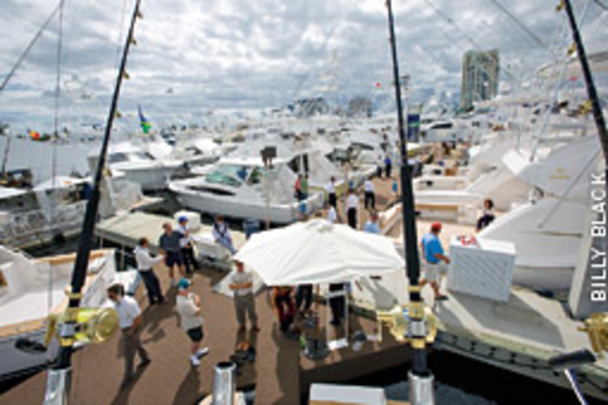 Despite ideal weather, attendance was down at the Fort Laudeerdale Internatinal Boat Show, and it was no secret as to the primary cause.
