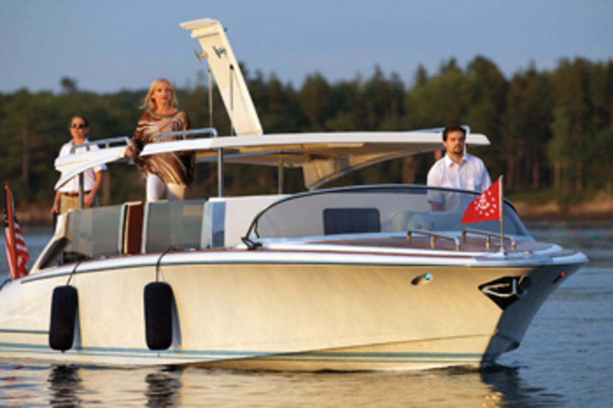 "Hodgdon's 35-foot ""limousine tender"" will be on display at the Monaco Yacht Show in September."