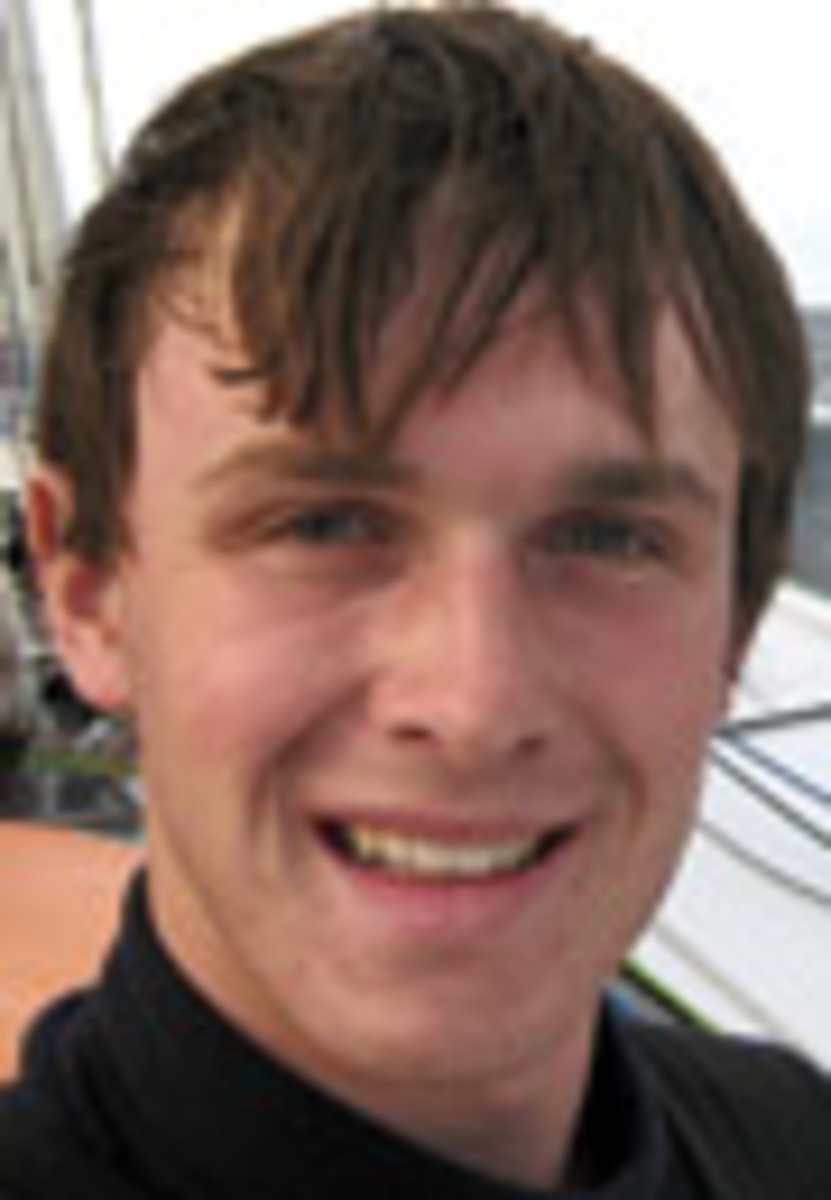 Michael Perham, who set sail from England on an eastward route, expects to complete his voyage by the end of July.