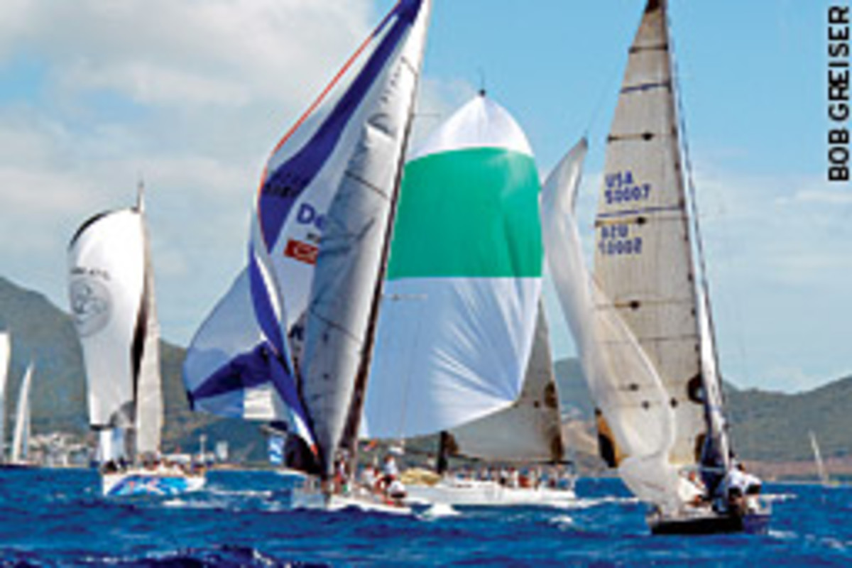 A record fleet of 284 entrants registered for the 2008 Heineken Regatta, which takes place on the Caribbean island of St. Martin.
