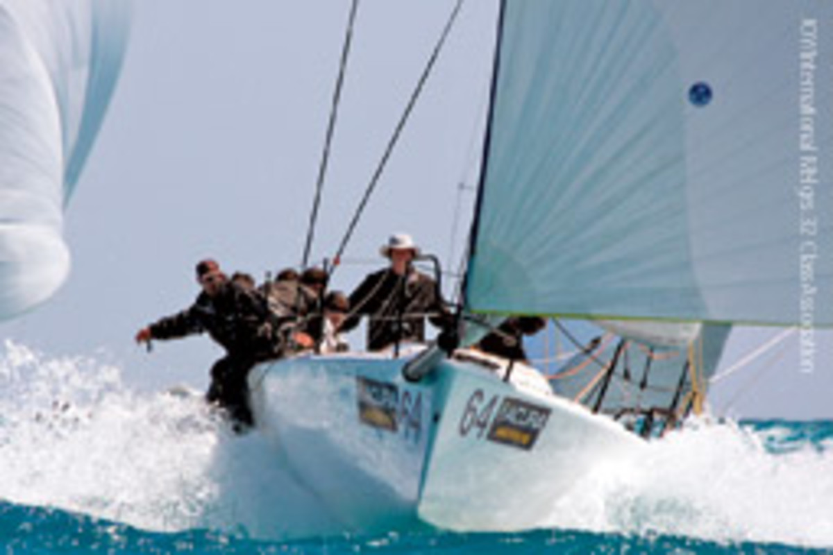 Pieter Taselaar, a Netherlands native who now lives in St. Inigoes, Md., won the Melges 32 class.