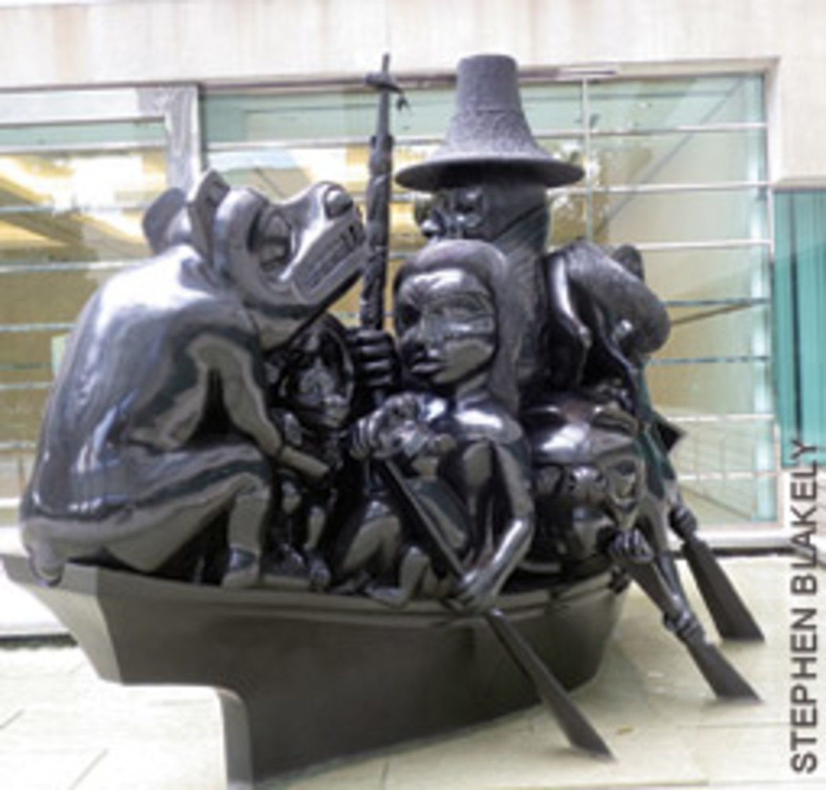 Bill Reid's sculpture The Black Canoe
