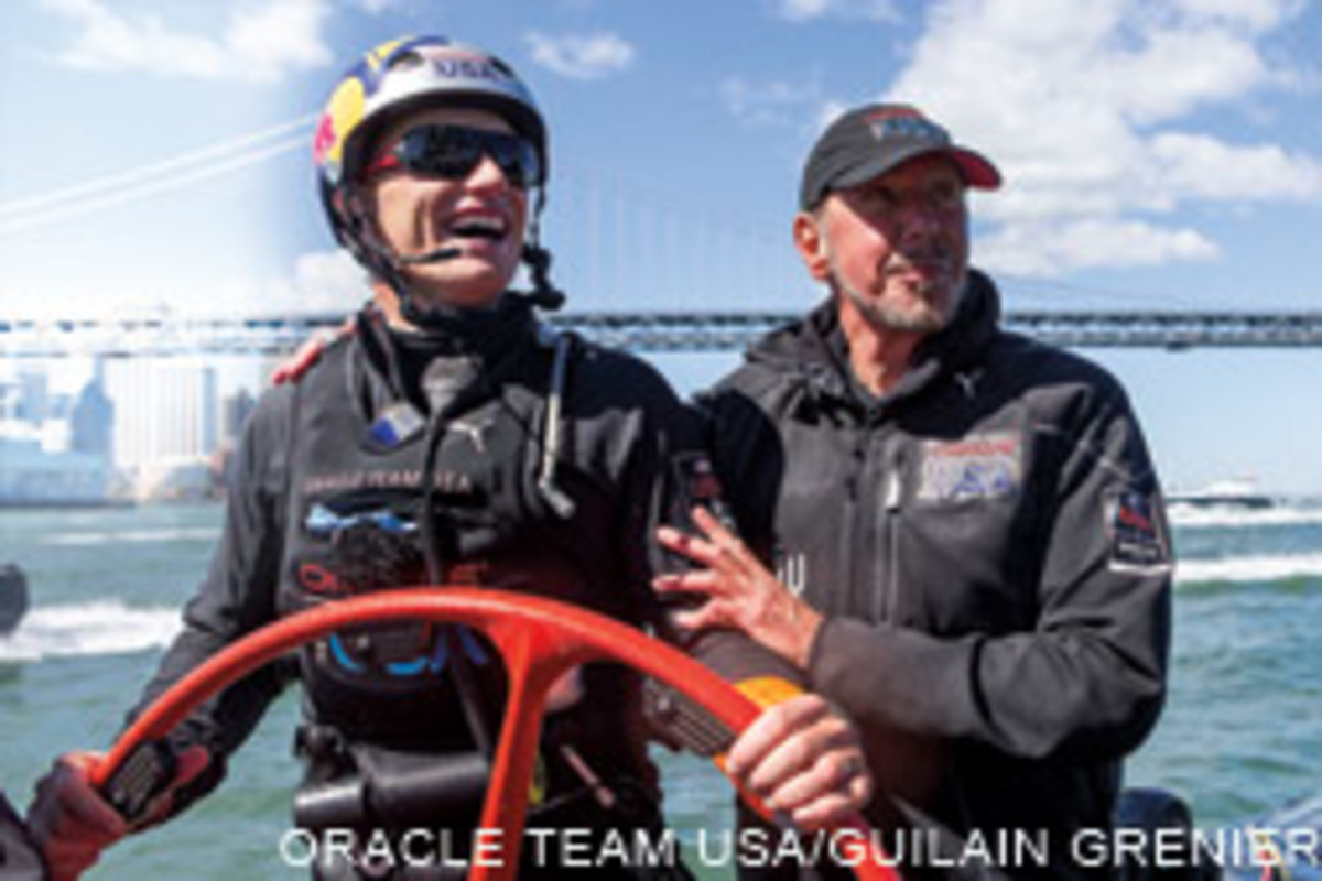 Oracle Team USA backer Larry Ellison believed in his skipper, Jmmly Spithill.