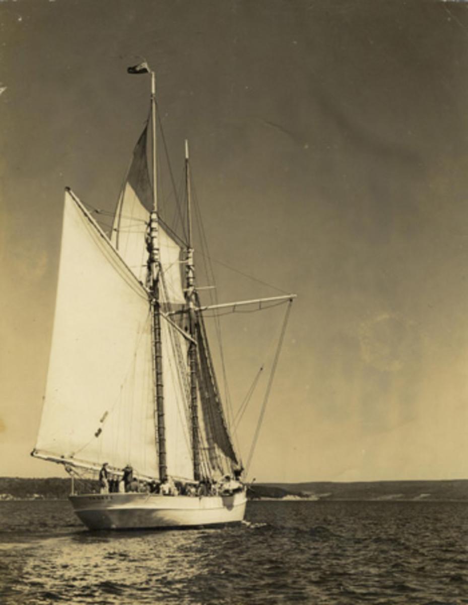 Yankee under sail.
