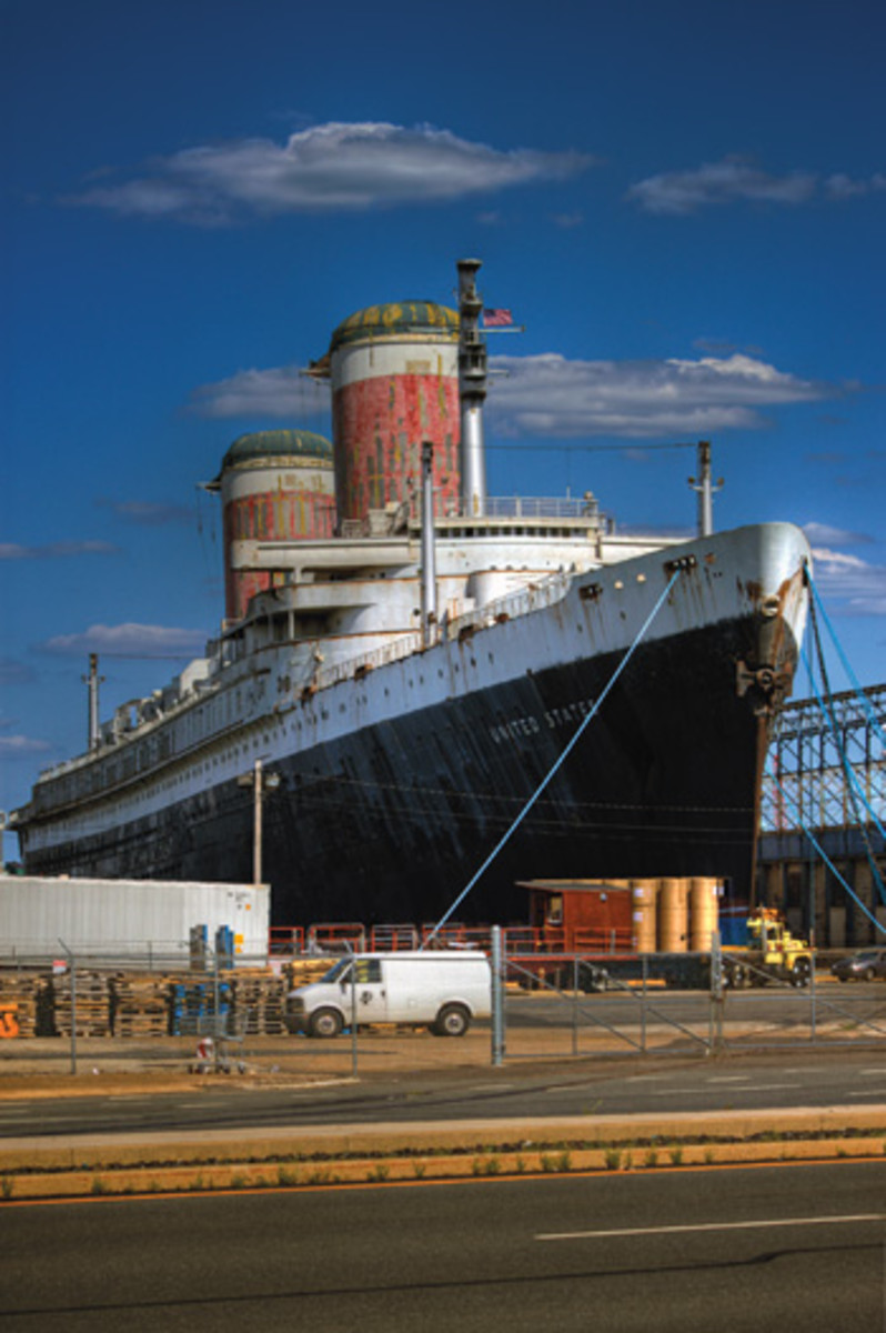 The SS United States has been a beautiful sight on the Philadelphia waterfront for many years, even in her current condition.