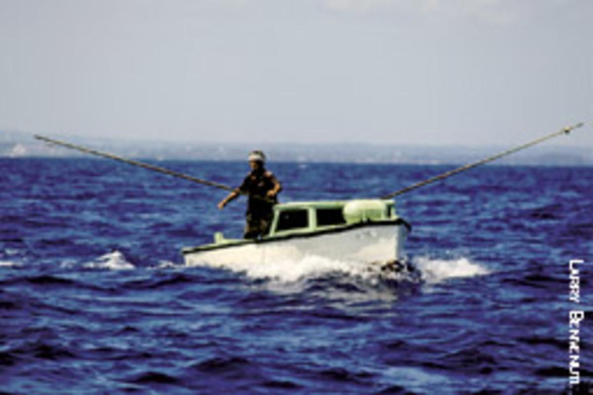 A local fishing boat outside of the Bahia de Matanzas, east of Havana and west of Varadero.